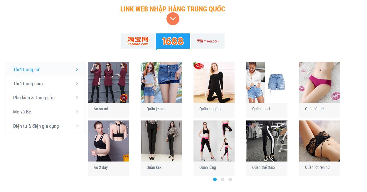 Top 3 web Trung Quốc bán hàng chất lượng – giá rẻ