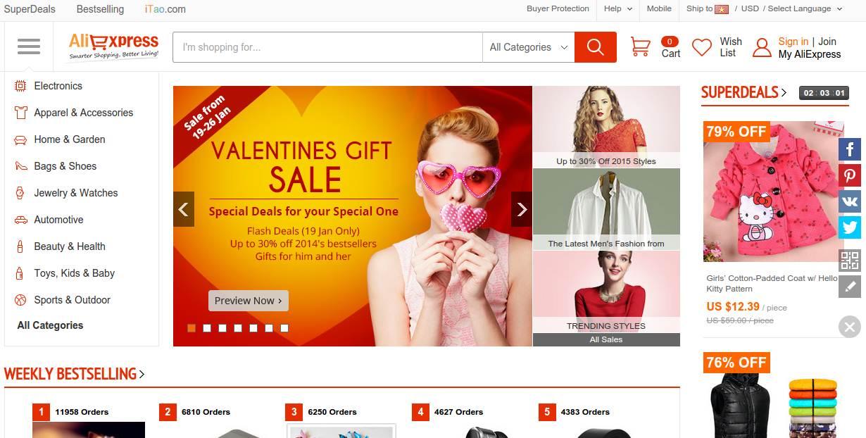 Kinh nghiệm mua hàng online trên AliExpress