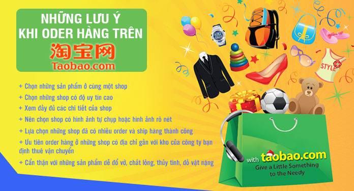 Những lưu ý khi order hàng tai taobao.com