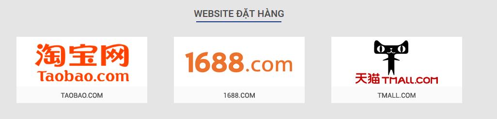 Nhận đặt hàng tại taobao.com, alibaba.com, tmall.com, 1688.com