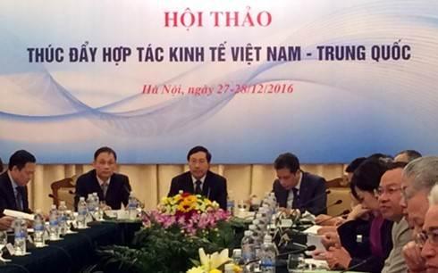 Thúc đẩy hợp tác kinh tế Việt Nam-Trung Quốc